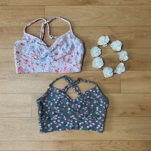 AE Aerie Floral Bralettes